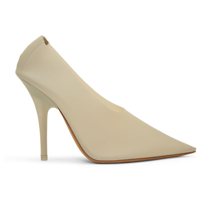 YEEZY Beige PVC Heels