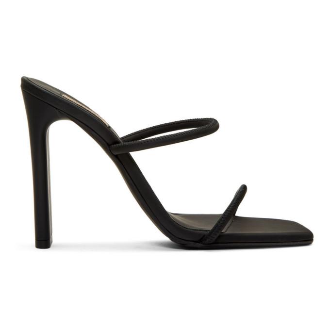 YEEZY Black Minimal Heel Sandals