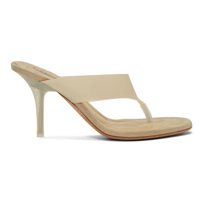 YEEZY Beige Thong Heel Sandals