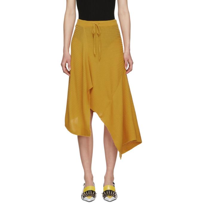 MARQUES ALMEIDA | Marques Almeida Yellow Draped Skirt | Goxip