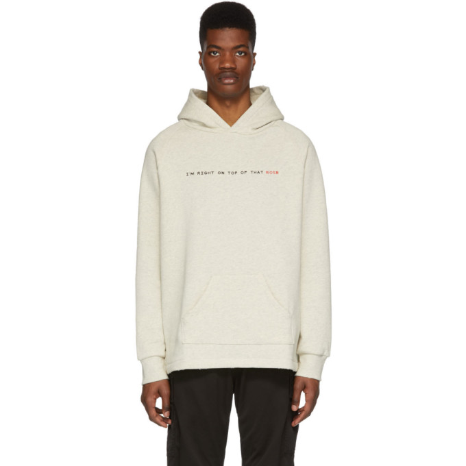 Image of Baja East Off-White 'Right On Top Of That' Hoodie