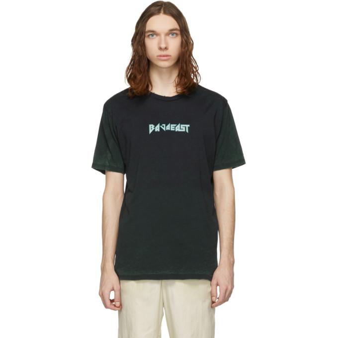 Image of Baja East Black Baja Metal Burn Out T-Shirt