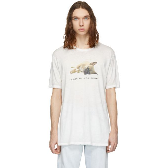 Image of Baja East White 'Rollin' T-Shirt