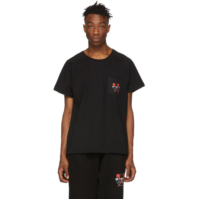 Baja East T-shirt noir Beverly Hills Pocket