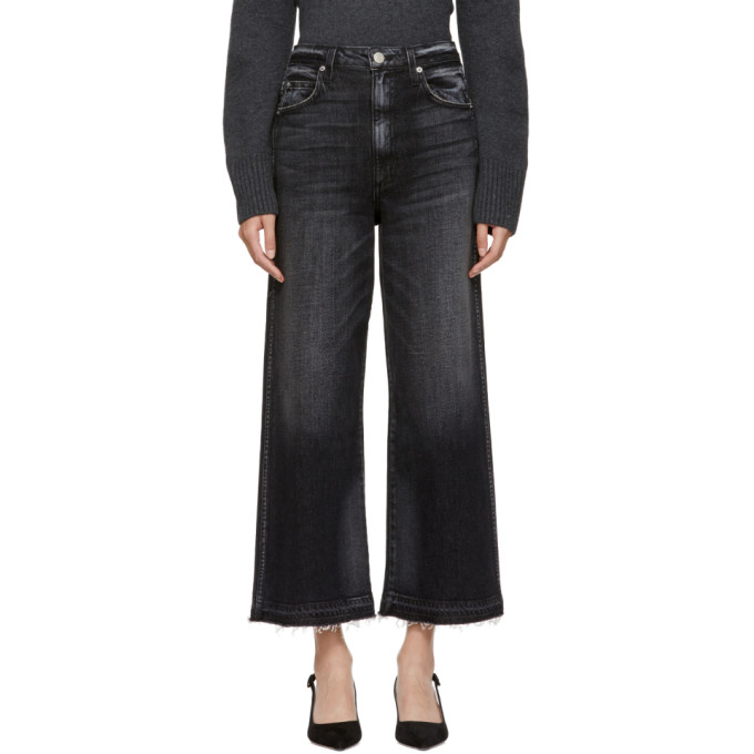 Image of Amo Black Ava Cropped Jeans