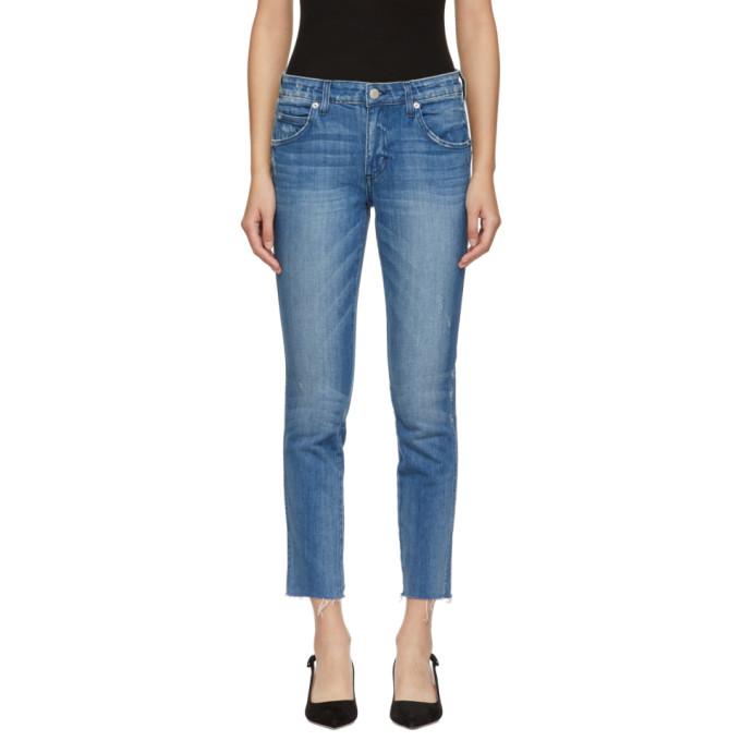Amo Blue Stix Crop Jeans in 080 Pacific