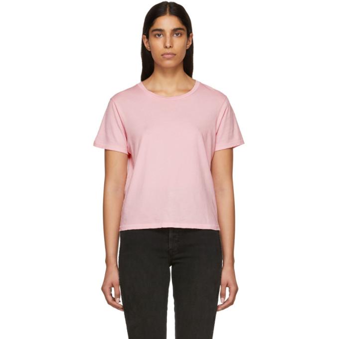AMO Amo Pink Classic T-Shirt in 098 Fd Pink