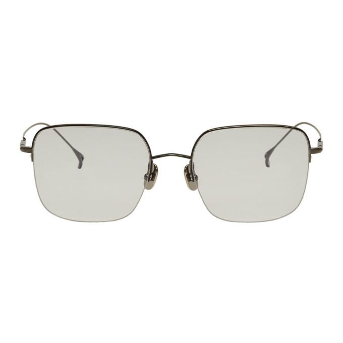 Issey Miyake Men Gunmetal & Black Square V Sunglasses