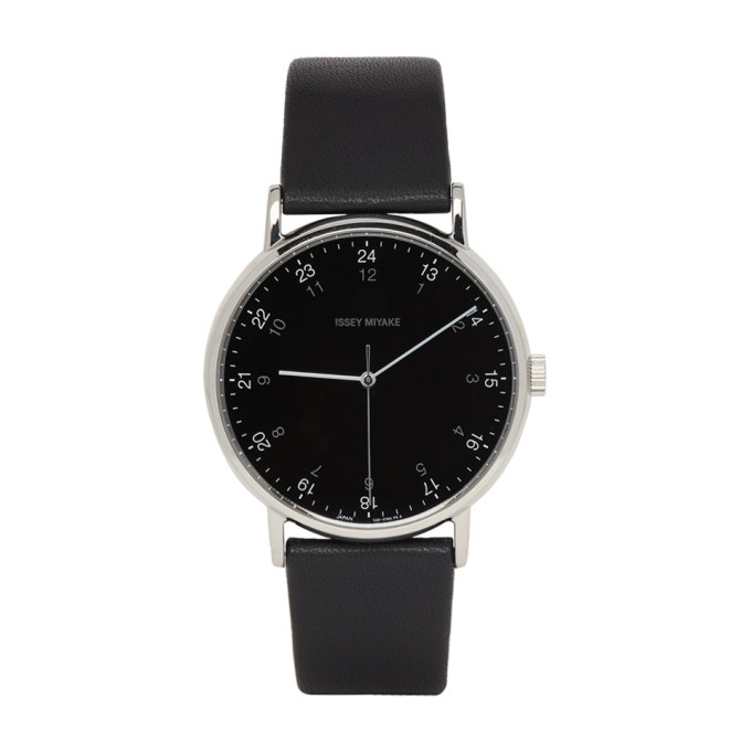 Image of Issey Miyake Men Black F Series PM Face Watch