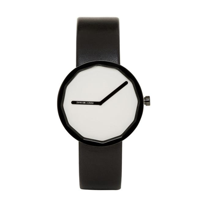 Issey Miyake Men Black and White Twelve Series Watch