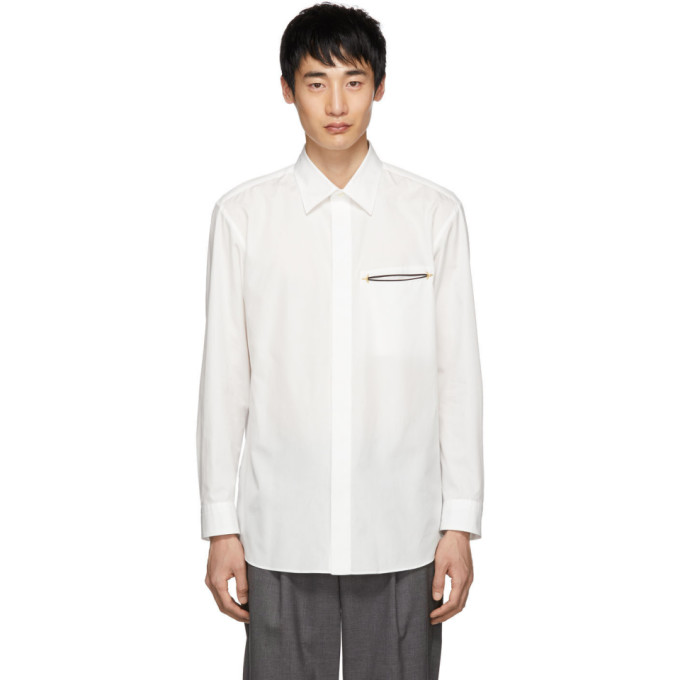 Issey Miyake Men Chemise blanche Broad Cloth
