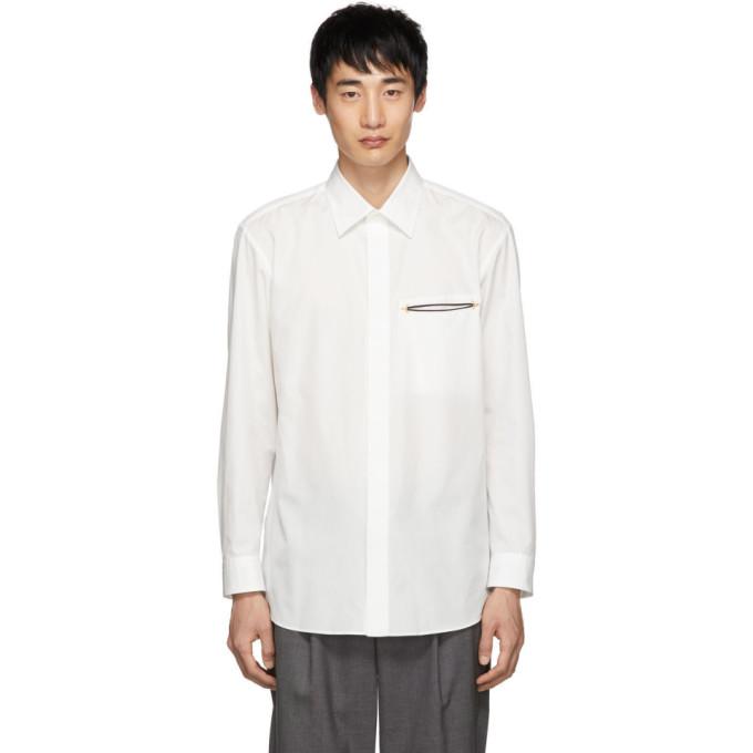 Issey Miyake Men ホワイト ブロード クロス シャツ