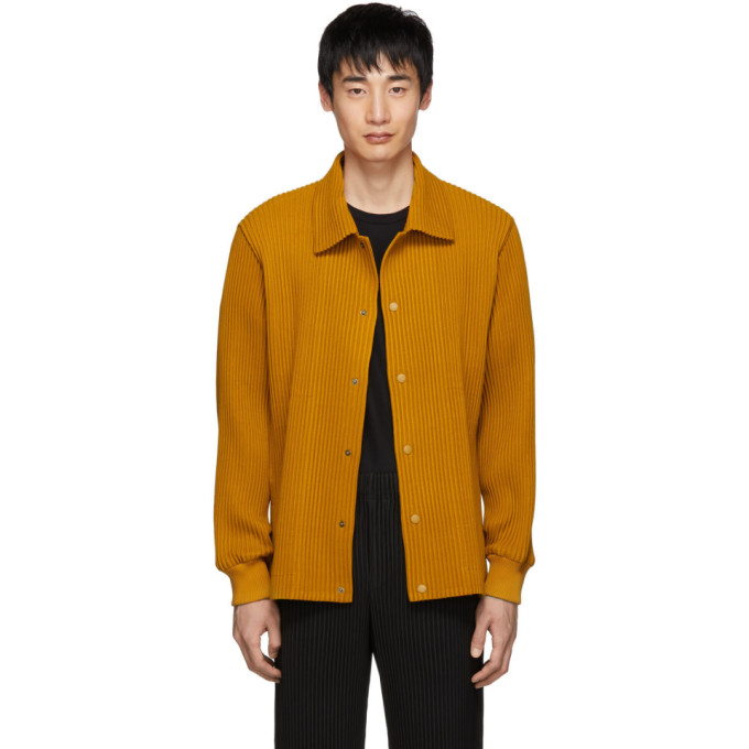 HOMME PLISSE ISSEY MIYAKE Homme Plisse Issey Miyake Yellow Pleated Shirt in 55 Tum Ylw