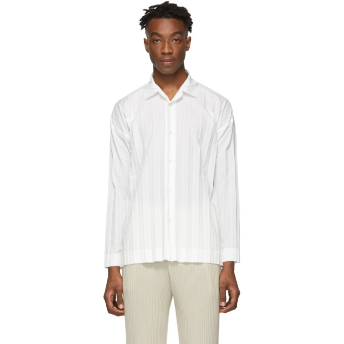 Homme Plisse Issey Miyake Chemise blanche Edge