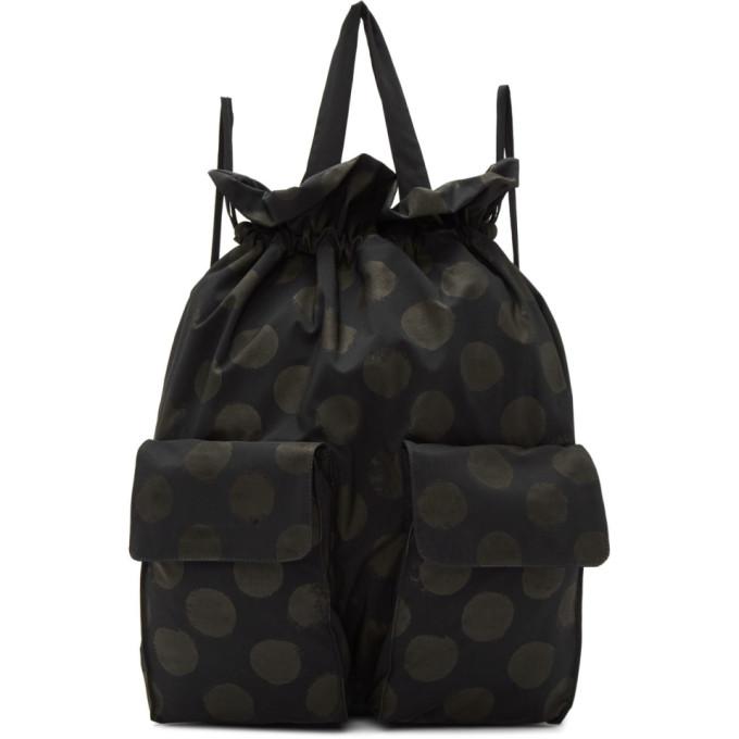 Y's Navy Polka Dot Backpack