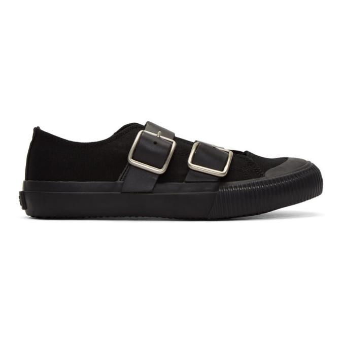 Y's Black Belt Sneakers