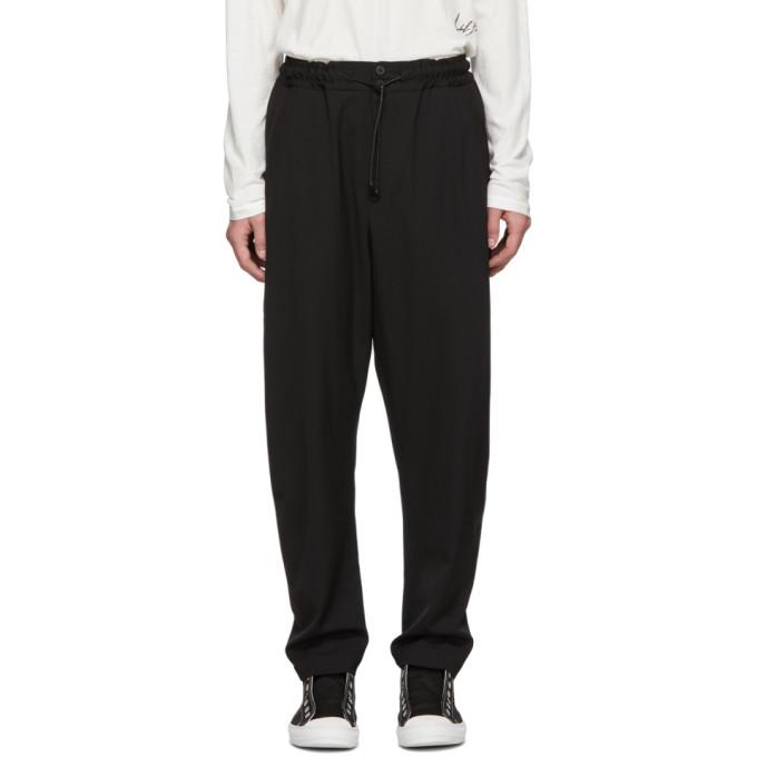 Isabel Benenato Pantalon en laine legere noir