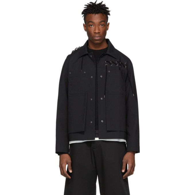 Image of Craig Green Black Laced Worker Jacket