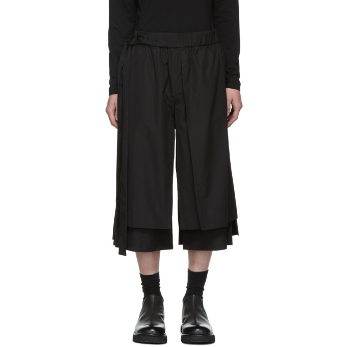 Image of Craig Green Black Layered Shorts