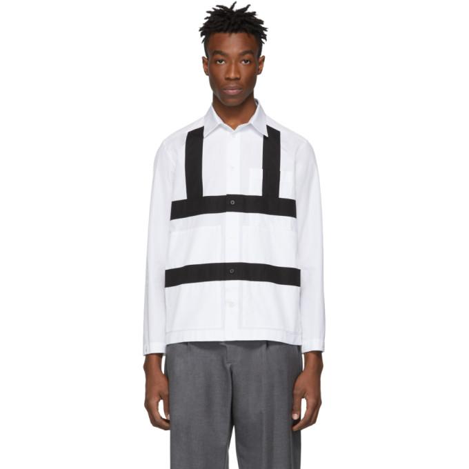 Craig Green Chemise blanche et noire Harness