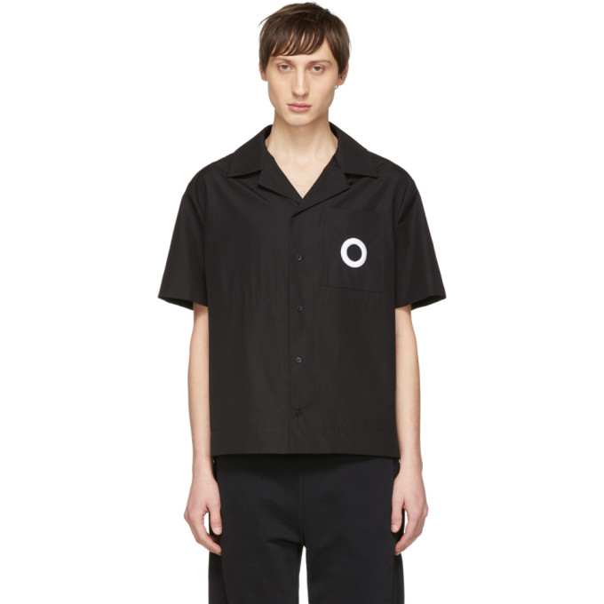 Image of Craig Green Black Embroidered Hole Shirt