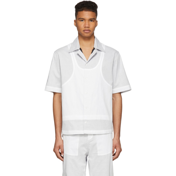 Craig Green Chemise a manches courtes blanche Ghost