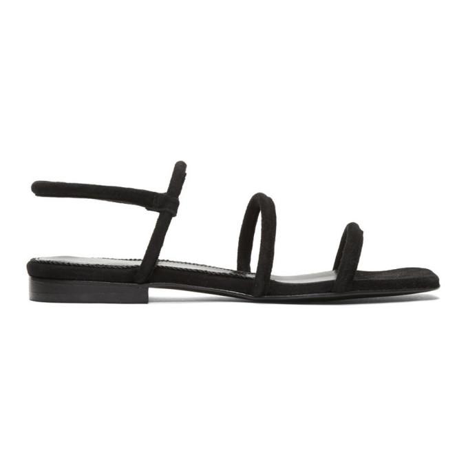 Dorateymur Black Suede Easy Sandals