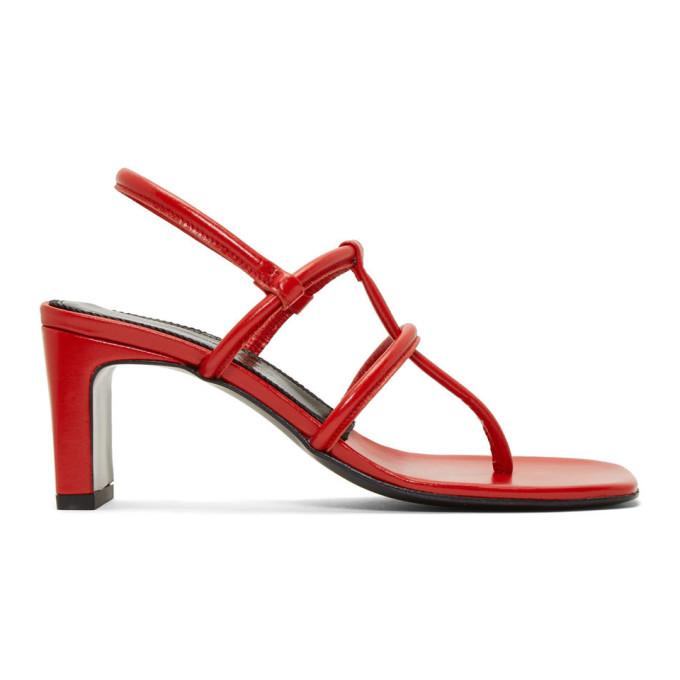 Dorateymur Red Calfskin Thong Sandals