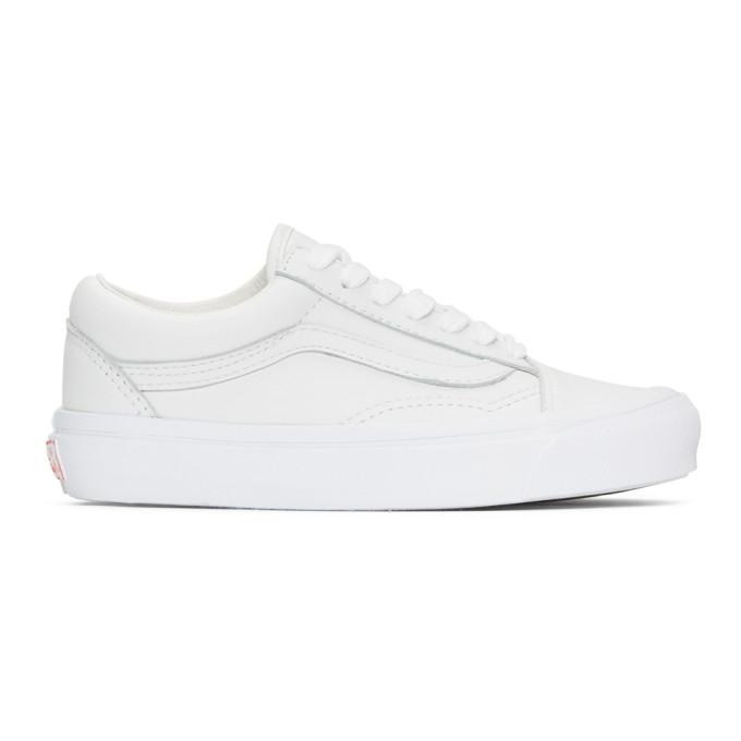 Vans White OG Old Skool LX Sneakers