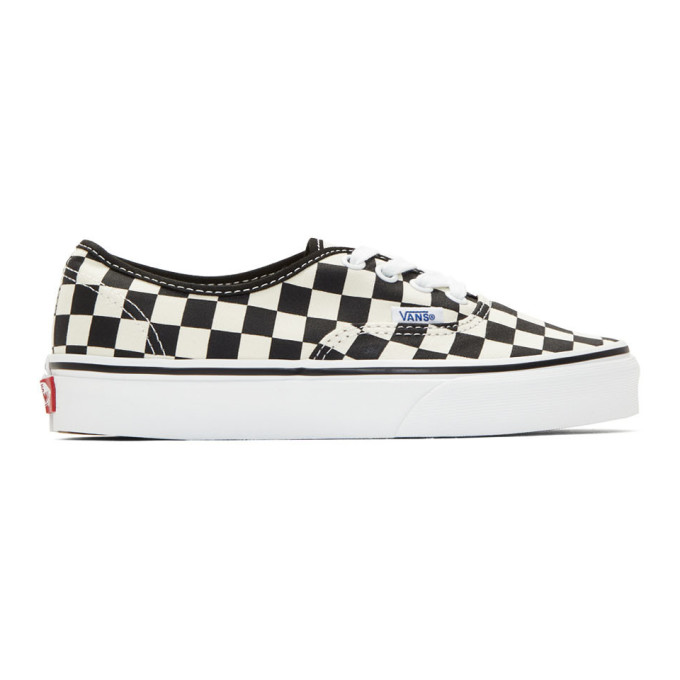 Vans Black and Off-White Checkerboard Authentic Sneakers
