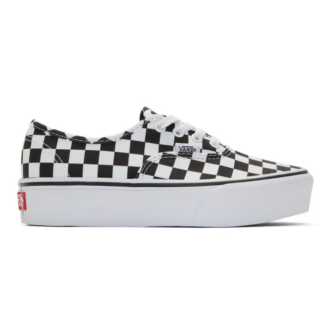 33ec655ff8 Vans Black and White Checkerboard UA Authentic Platform 2.0 Sneakers