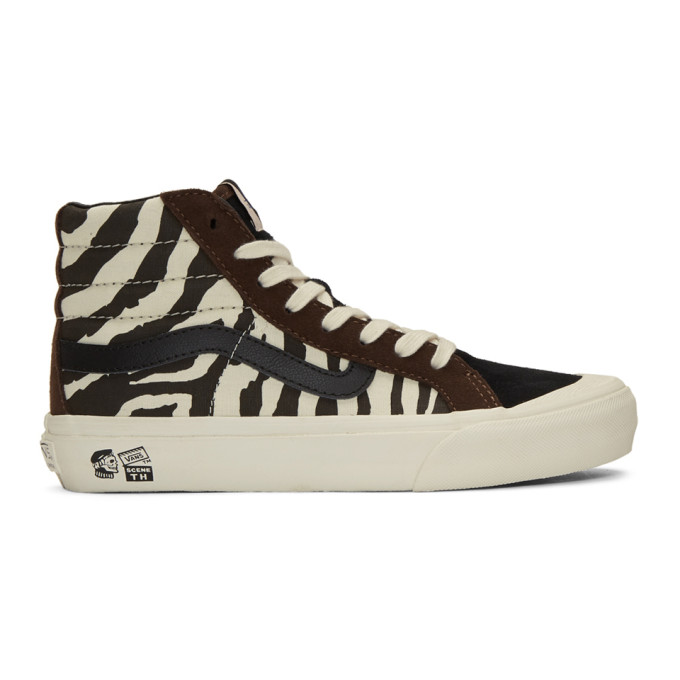 Vans Brown & Off-White Taka Hayashi Edition Style 138 Lx High-Top Sneakers