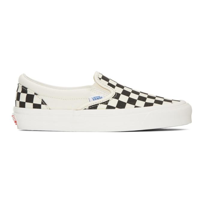 Vans Black & White OG Checkerboard Classic Slip-On Sneakers