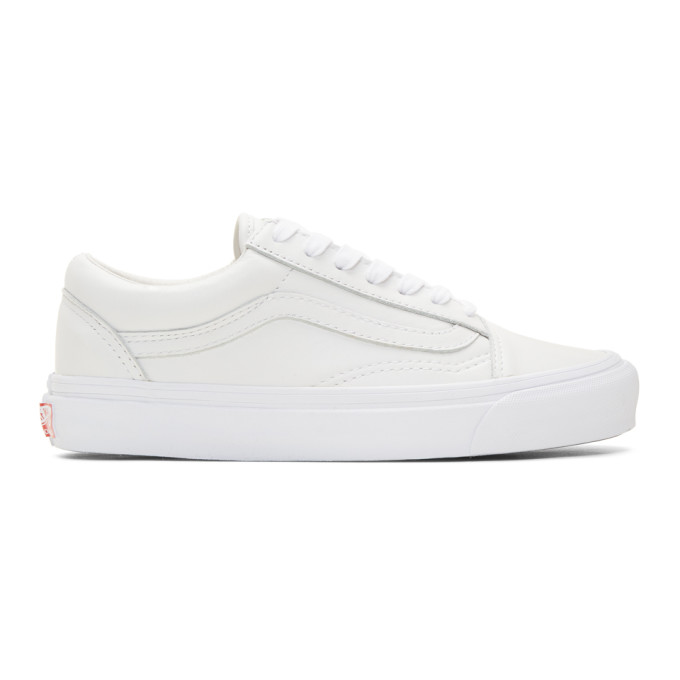 88eca1a3fa520b Vans Og Old Skool Leather Sneakers - White