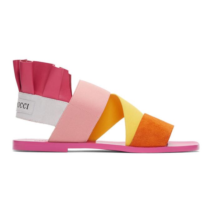 Emilio Pucci Pink Ruffle Sandals