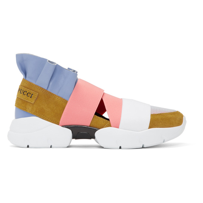Emilio Pucci Yellow & Blue City Up Sneakers