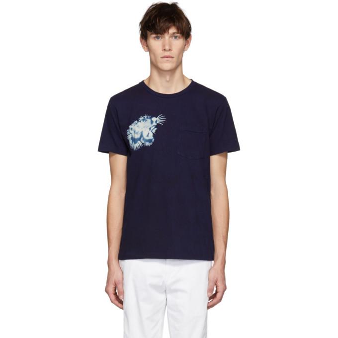 Blue Blue Japan T-shirt indigo Tiger Face exclusif a SSENSE