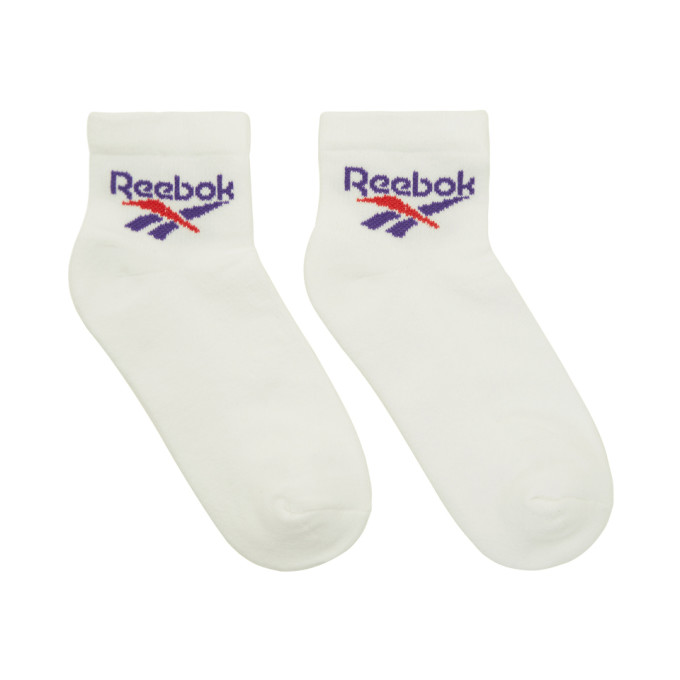 Reebok Classics Three-Pack White Lost and Found Socks