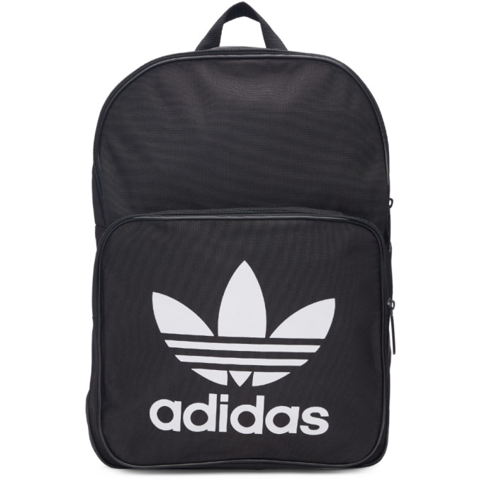 adidas Originals Black Classic Trefoil Logo Backpack
