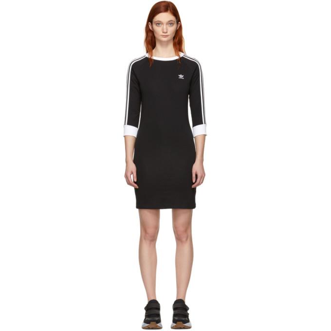 Image of adidas Originals Black 3-Stripes Dress
