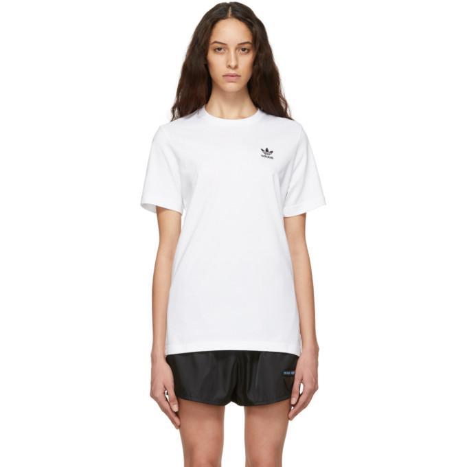 Adidas Originals ADIDAS ORIGINALS WHITE ESSENTIAL T-SHIRT