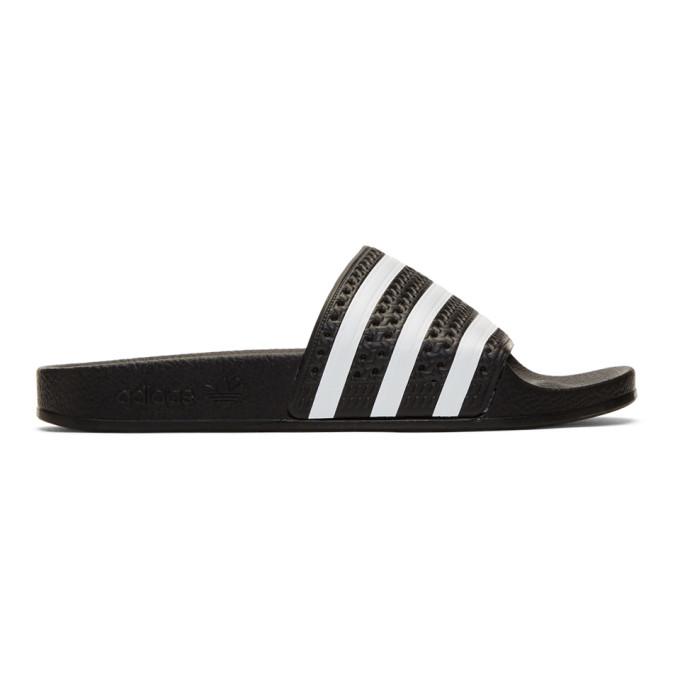 adidas Originals Black Adilette Pool Slides
