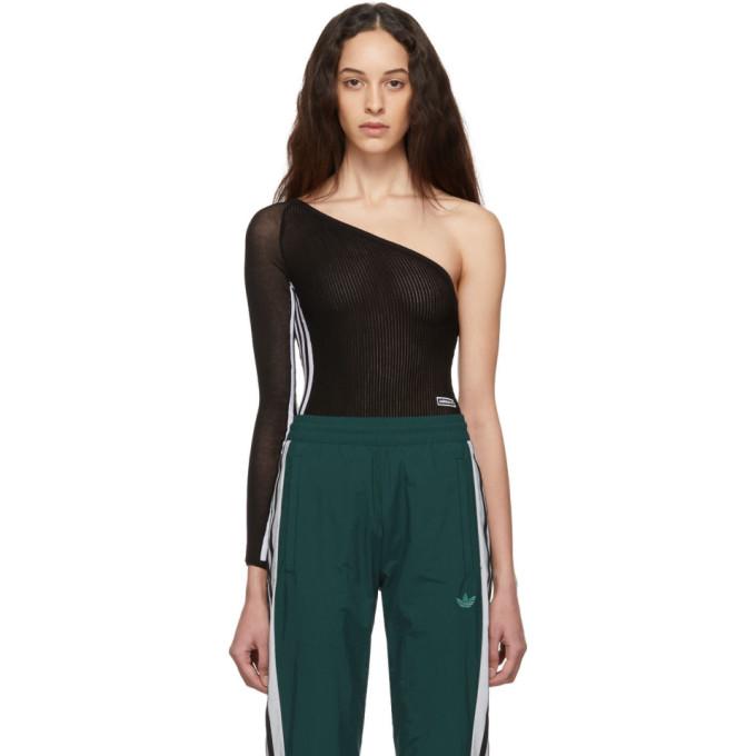 Image of adidas Originals Black 3-Stripes Bodysuit
