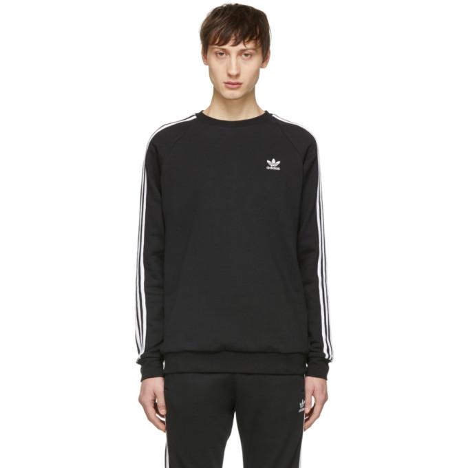 Image of adidas Originals Black 3-Stripes Sweatshirt