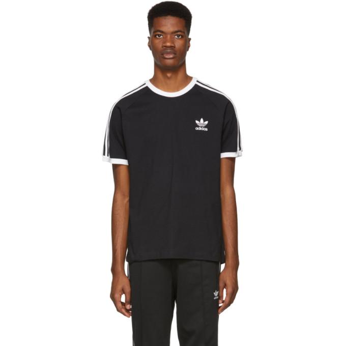 Image of adidas Originals Black 3-Stripes T-Shirt