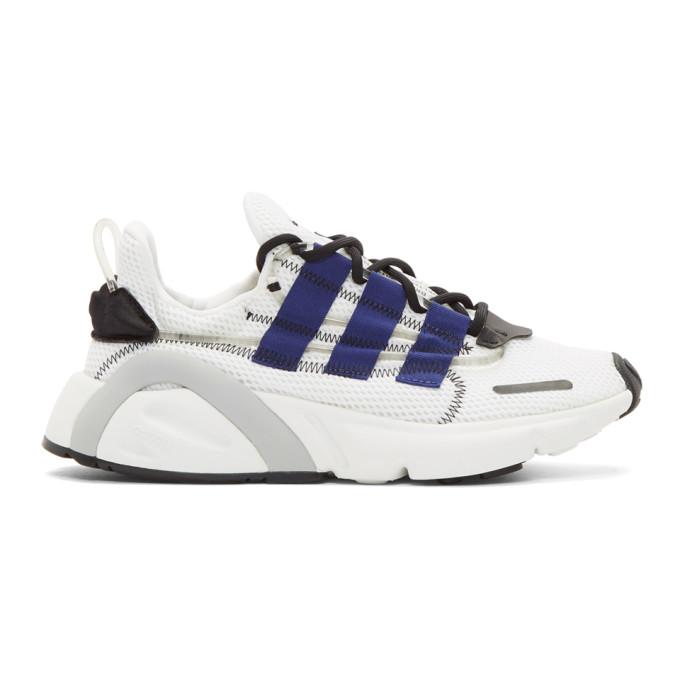 adidas Originals White & Blue LX Con Sneakers