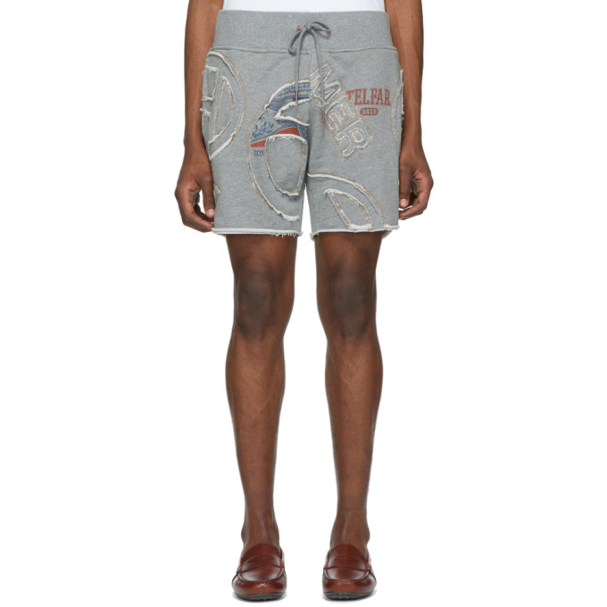 Telfar Shorts TELFAR GREY CUT-IN TOUR SWEAT SHORTS