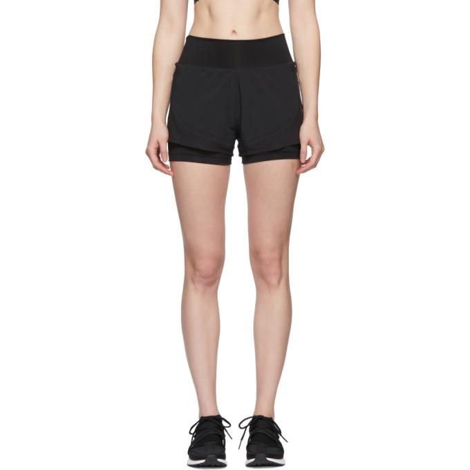 Image of adidas by Stella McCartney Black High Intensity Shorts