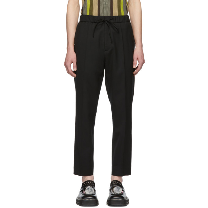 Image of CMMN SWDN Black Drawstring Stan Trousers