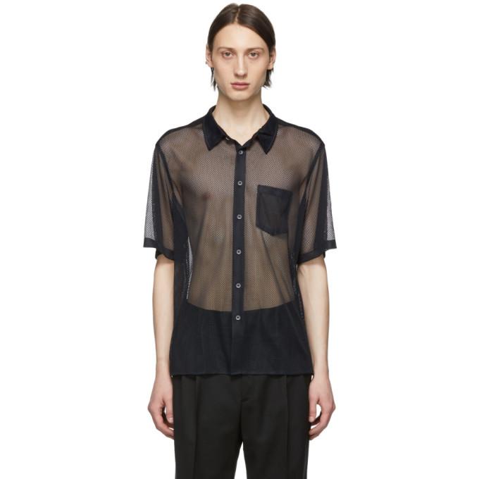Image of CMMN SWDN Black Mesh Niels Shirt